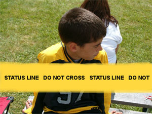 Status line, do not cross
